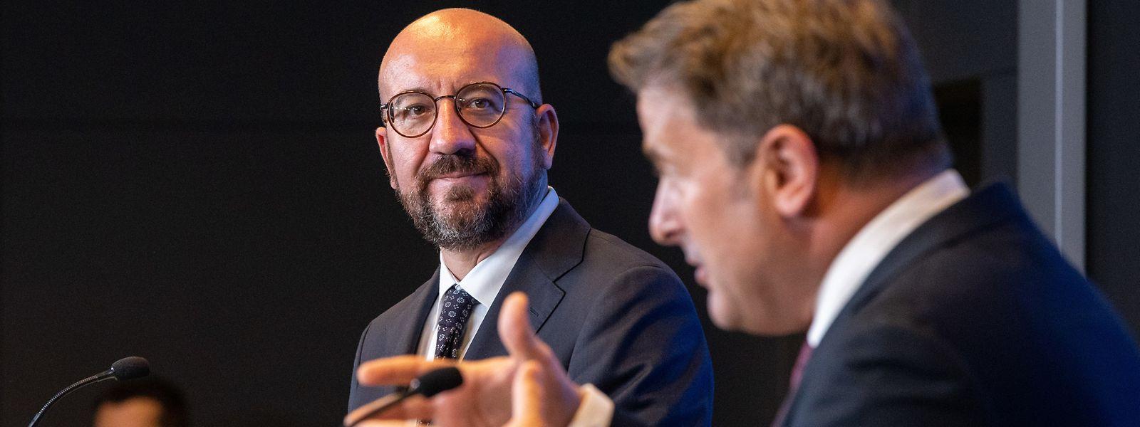 Premier Xavier Bettel (r.) forderte Michel auf, den Europäischen Rat weniger in Klimaangelegenheiten einzuschalten.