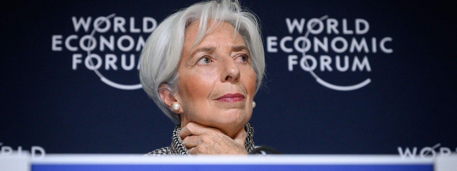 IWF-Chefin Christine Lagard stellte den Ausblick für die Weltwirtschaft vor.