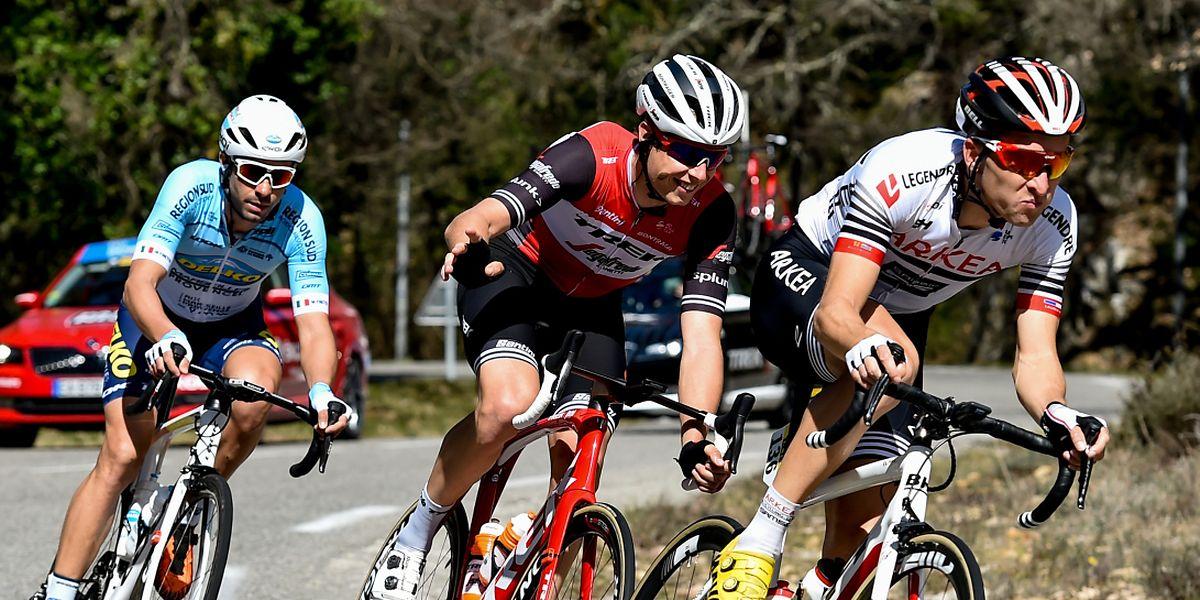Alex Kirsch, entouré de Mauro Finetto et Laurent Pichon, a lancé les hostilités après cinq kilomètres de course.