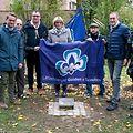 100 Joer Beetebuerger Guiden a Scouten: Das Pflanzen von Bäumen im Parc Grande-Duchesse Charlotte in Bettemburg. (Foto: Alain Piron)