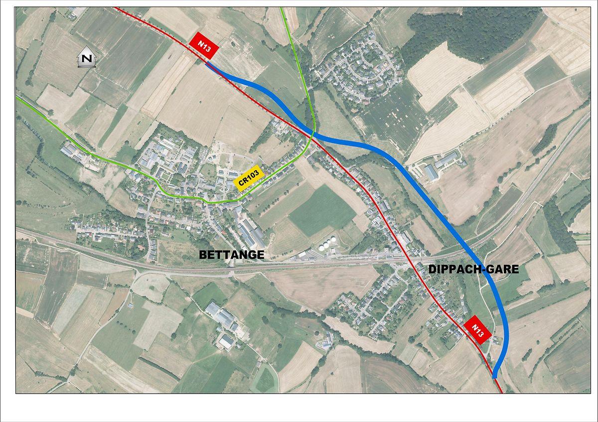 So sieht die Trasse der künftigen Umgehungsstraße aus. Sie wird etwa 2,5 Kilometer lang sein.