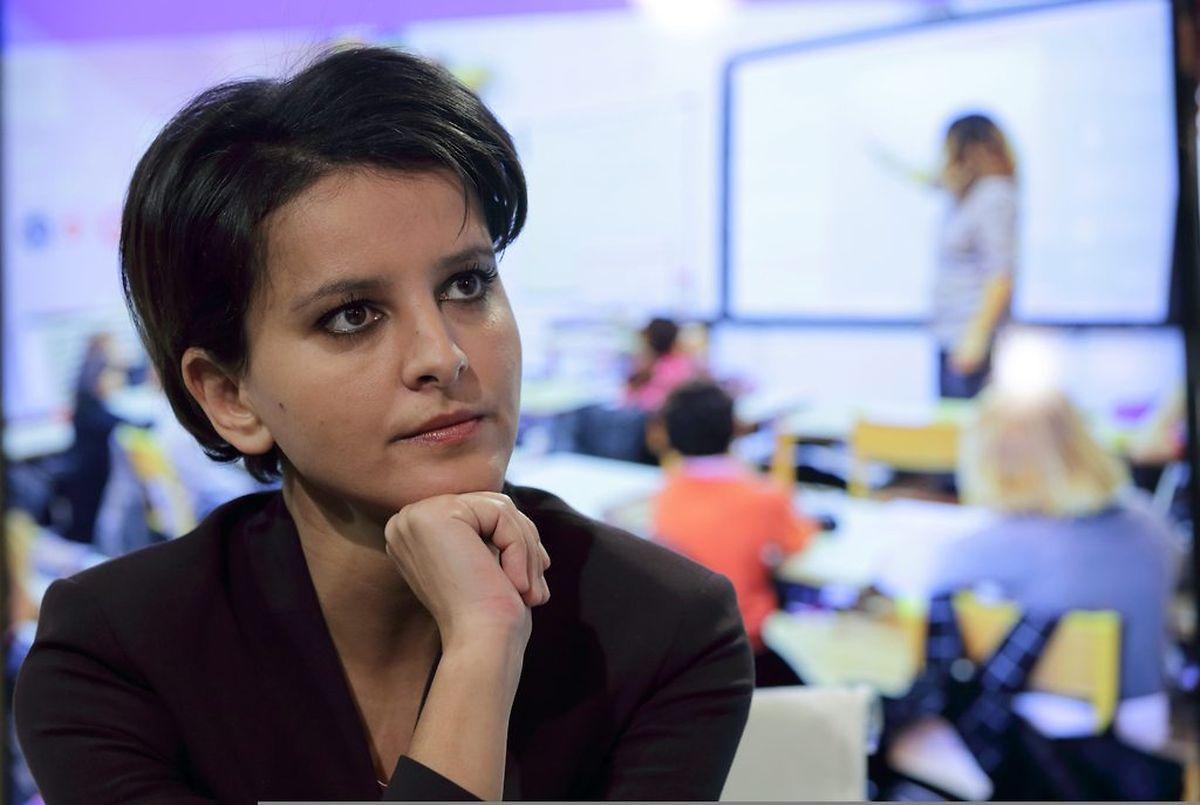 Die französische Bildungsministerin Najat Vallaud-Belkacem will die demokratische Wertevermittlung an den Schulen stärken.