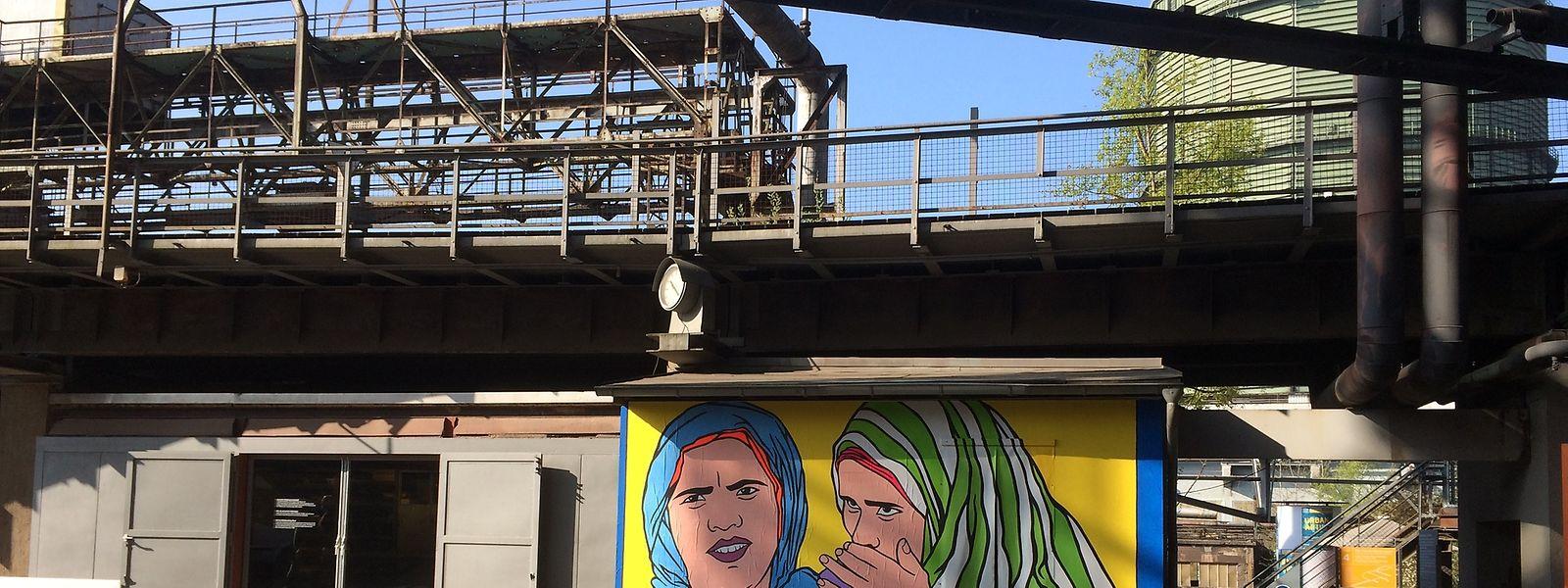"""Politisch, kontrastreich, farbstark: Einmal mehr erobert die """"Urban Art"""" die einstige Völklinger Hütte."""