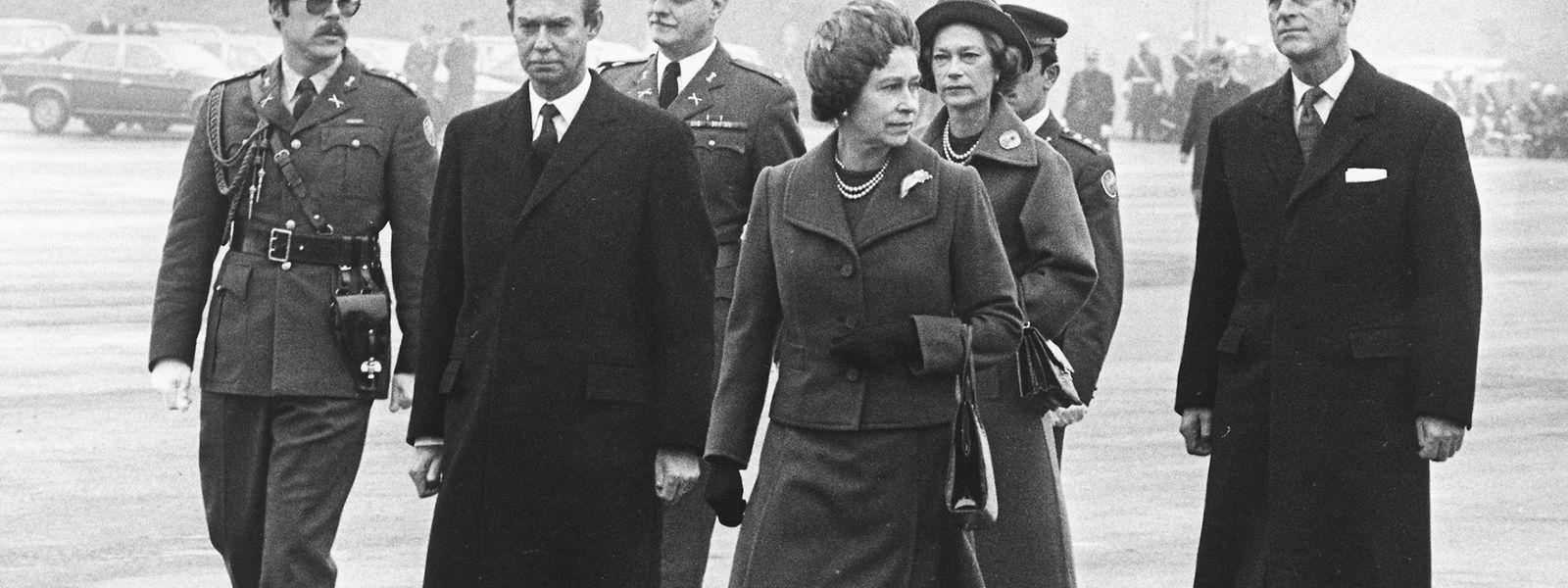 Receção do casal real no Findel