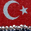 Turkish air force cadets march during a graduation ceremony for 197 cadets at the Air Force war academy in Istanbul, Turkey August 31, 2009. REUTERS/Murad Sezer/File Photo