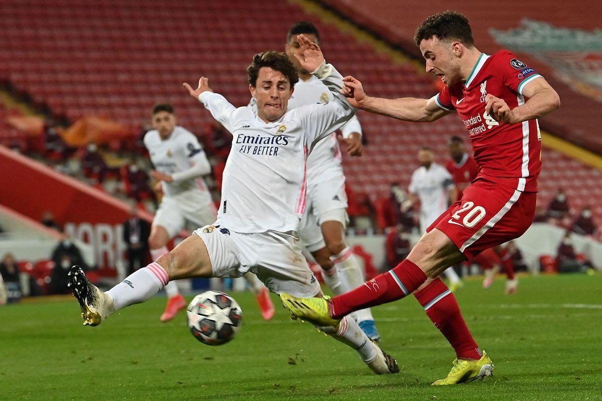 Auch Diogo Jota kann das Ausscheiden des FC Liverpool nicht verhindern.