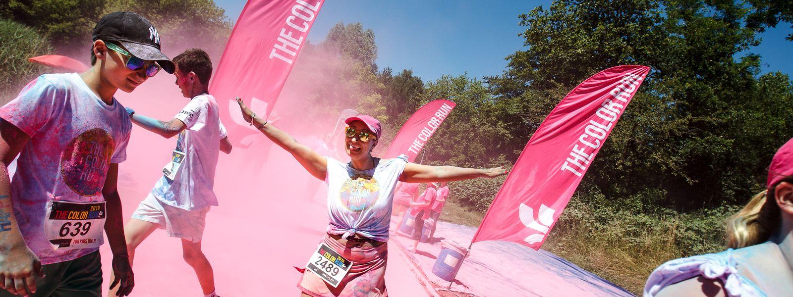 Am Samstag fand die siebte Auflage des Color Run bei Echternach statt.
