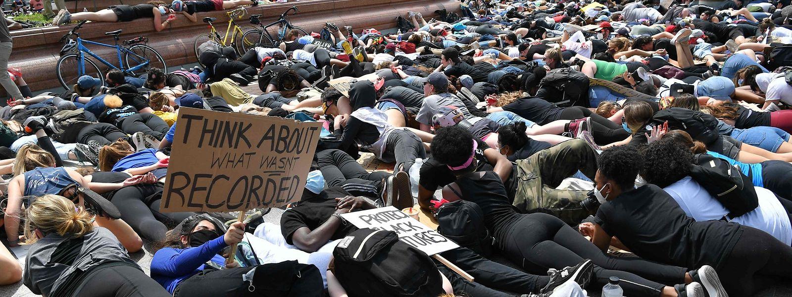 Proteste nahe des Kapitols in Washington DC.