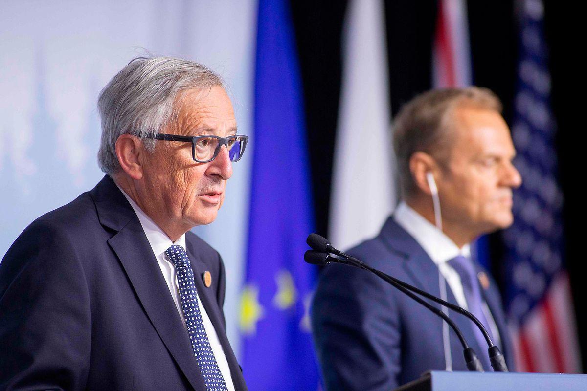 Jean-Claude Juncker und Donald Tusk sprachen sich gegen den Vorschlag von Trump aus.