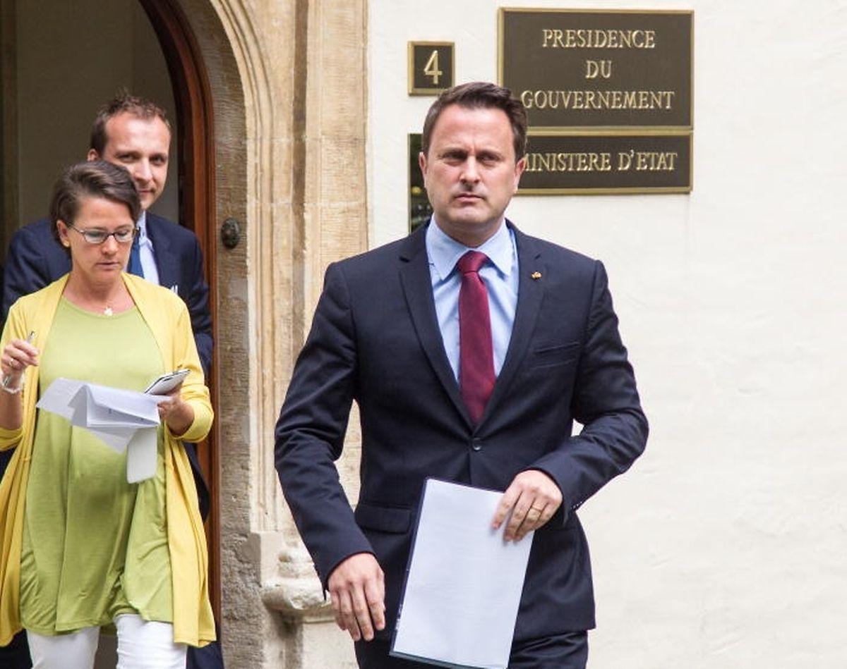Premier Xavier Bettel setze nach der Sitzung des Ministerrats eine ernste Miene auf.