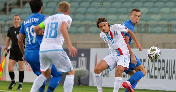 Nations League Flf Auswahl Dreht Spiel Gegen Aserbaidschan