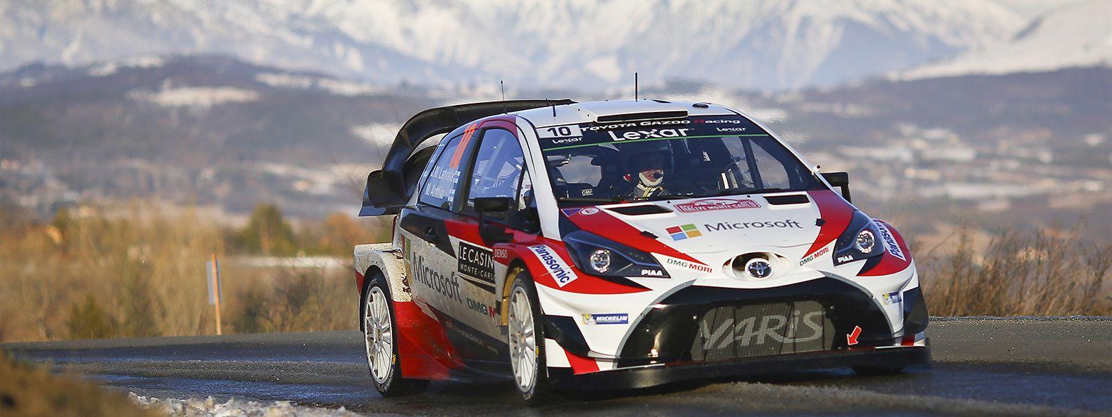 La Toyota que pilotera Sebastien Ogier lors du championnat du monde des rallyes en 2020