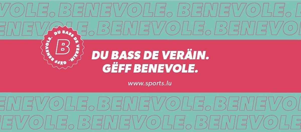 """""""Du bass de Veräin. Gëff Benevole"""", lautet der Name der neuen Kampagne."""