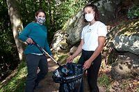 """Nach dem Touristenansturm haben 300 Freiwillige im vergangenen September bei den """"Clean Up Days"""" die Wanderwege im Müllerthal gereinigt."""