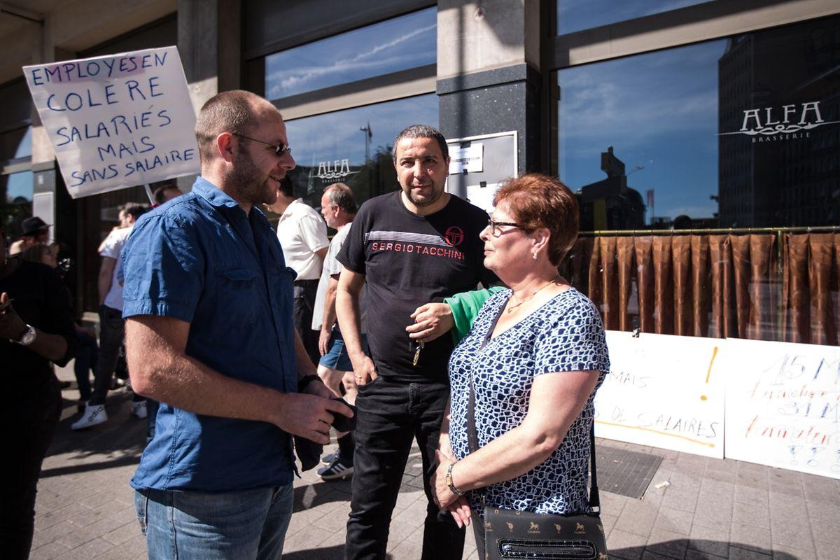 Journée de mobilisation pacifiste Alfa Mercure à Luxembourg / Foto: Joaquim VALENTE
