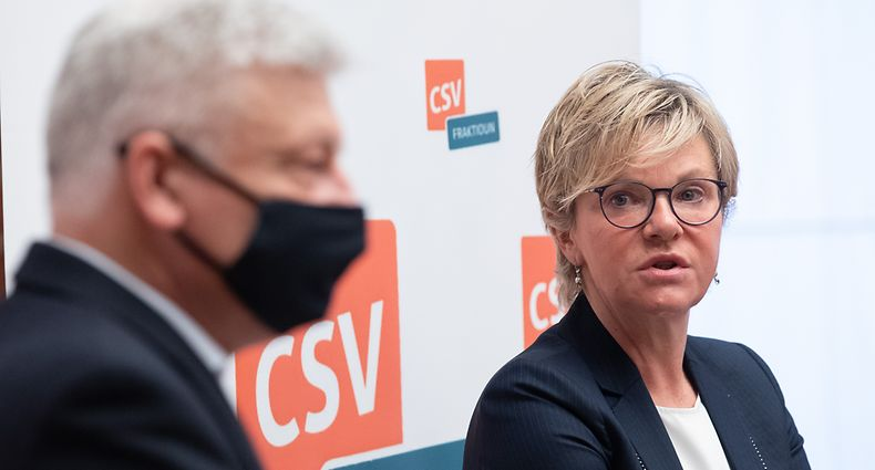 CSV-Fraktionschefin Martine Hansen und der Abgeordnete Claude Wiseler fordern einen Stufenplan zur schrittweisen Öffnung der Wirtschaft und des öffentlichen Lebens.