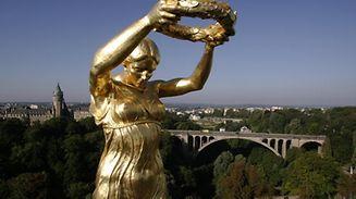 La Gëlle Fra, figure emblématique du Luxembourg.