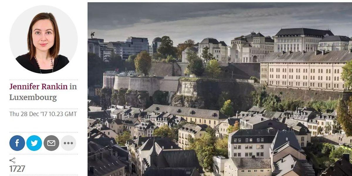 L'auteur Jennifer Rankin a beaucoup travaillé avec le Luxembourg.