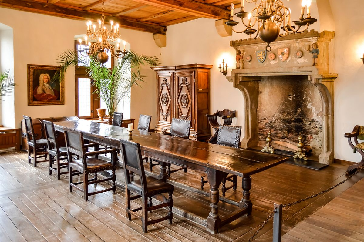 Dining room in Vianden Castle Photo: Shutterstock