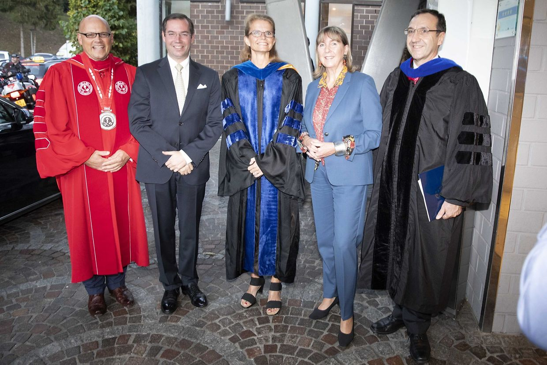 Bei der Zeremonie zu Ehren von Erbgroßherzog Guillaume waren zahlreiche Ehrengäste anwesend.