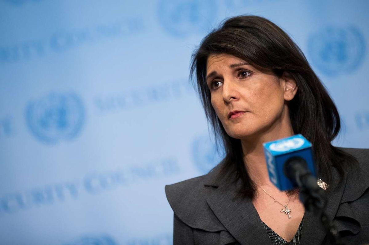 """Die Menschen im Land litten unter einer """"iranischen Diktatur"""", sagte Haley."""