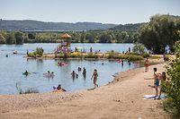 Die Badesaison dauert in Luxemburg vom 1. Mai bis 30. September. Dann darf im Baggerweiher in Remerschen, hier im Bild, gebadet werden.
