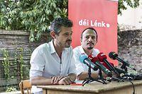 Pressekonferenz Bilan parlementaire Déi Lénk/ David Wagner/ Marc Baum/ Restaurant Chiche/ 16.07.2019/ Foto : Caroline Martin