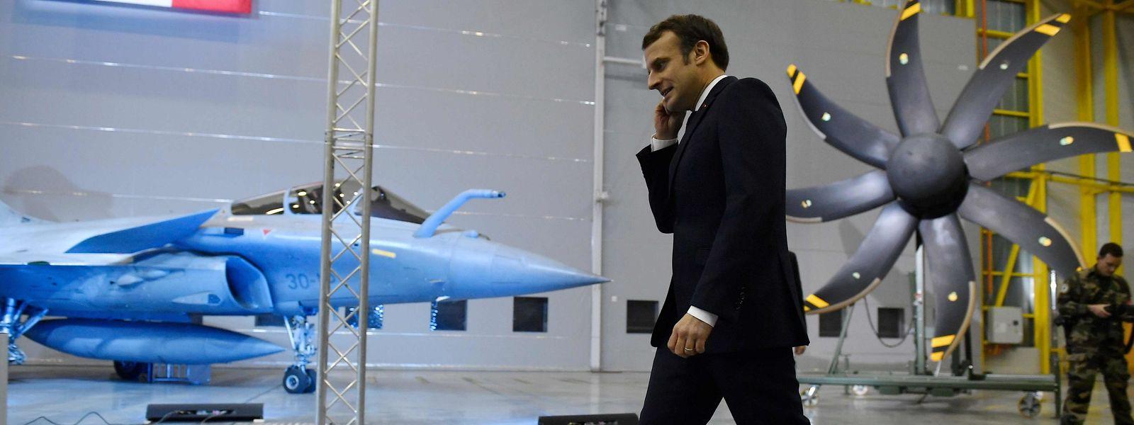 """Emmanuel Macron entend faire du """"Nation branding"""" en profitant du cadre royal du château de Louis XIV."""