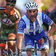 O ciclista Samuel Caldeira, da W52-FC Porto, o vencedor da 2a etapa da 79a Volta a Portugal em bicicleta, disputada hoje entre Reguengos de Monsaraz e Castelo Branco, numa distância de 214,7km. Castelo Branco, 6 de agosto de 2017. NUNO VEIGA/LUSA