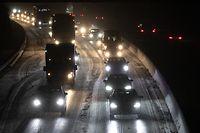 Lokales, Verkehr A3 Schnee , Foto: Chris Karaba/Luxemburger Wort