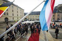 Visite d'État au Luxembourg de LL.MM. le roi et la reine des Belges - Arrivée en voiture de LL.MM. le roi et la reine des Belges et de S.A.R. le Grand-Duc   -  Foto: Pierre Matgé/Luxemburger Wort