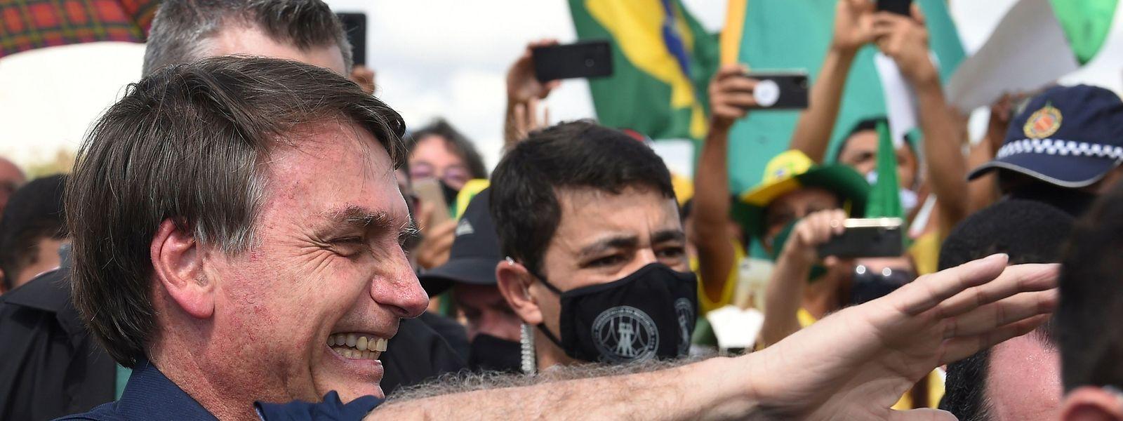 Jair Bolsonaro auf einem Treffen mit Anhängern.