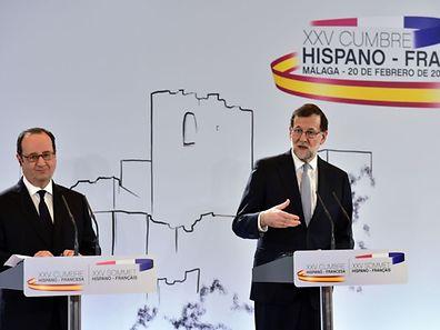François Hollande und Mariano Rajoy beschworen in Málaga die europäischen Gemeinsamkeiten.