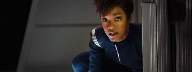 """Kernfigur der ersten Folgen der neuen Star Trek-Serie ist eine Frau: """"Michael Bernham"""", gespielt von Sonequa Martin-Green."""