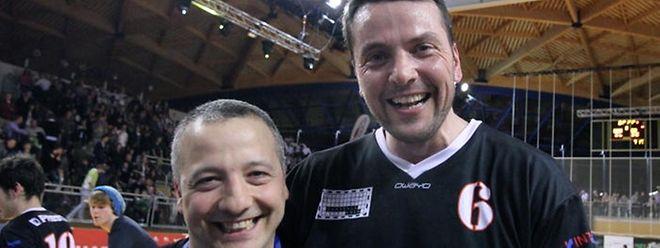 Le président Marc Fancelli (à g.), au côté de Romain Labonté.