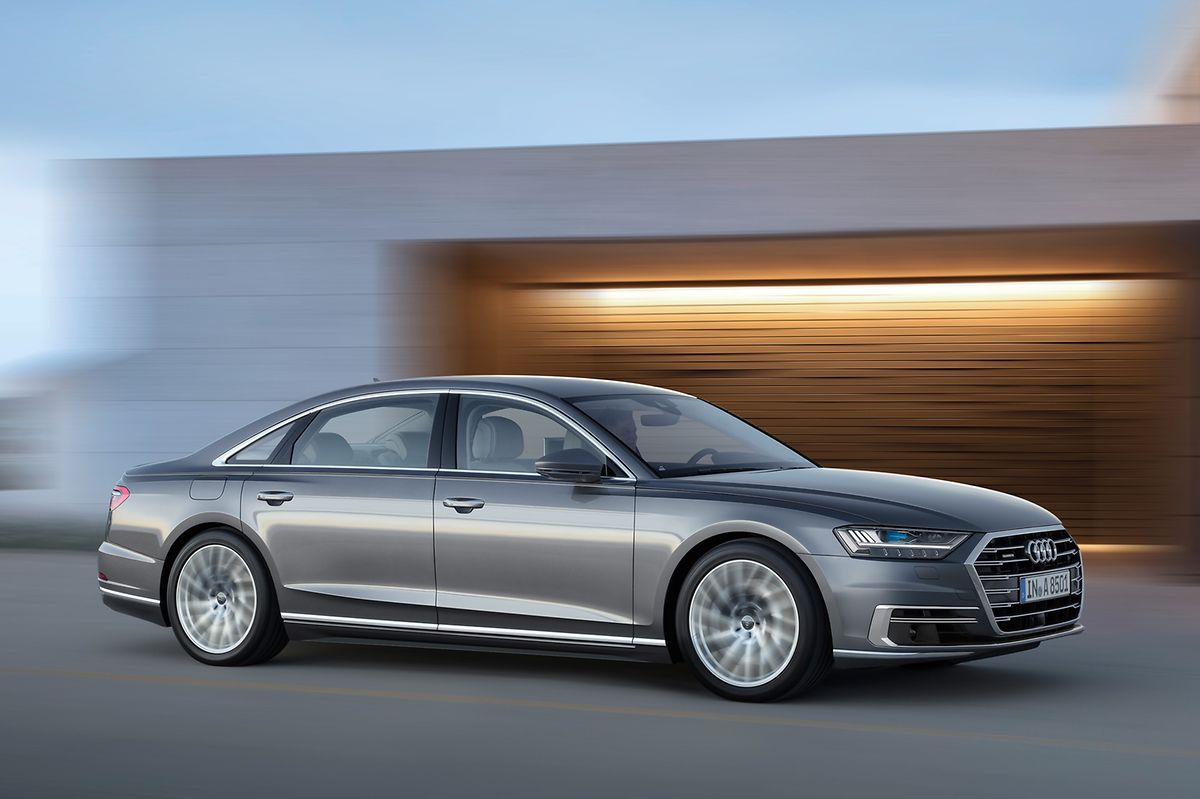 Audi zeigt in Frankfurt erstmals auf einer Messe den neuen A8.