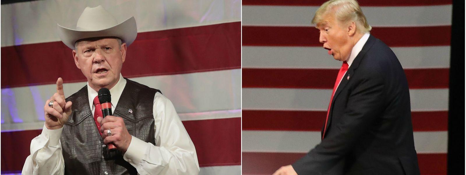 Roy Moore (l.) ist höchst umstritten, Donald Trump möchte ihn im Senat sehen.