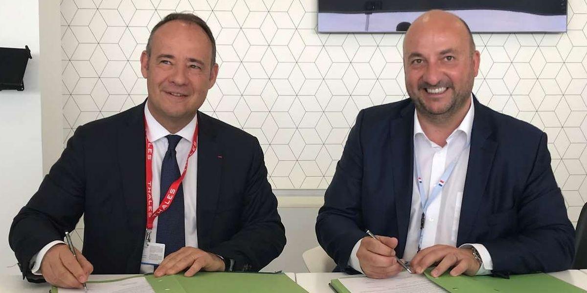 Etienne Schneider (esquerda) e Jean-Loïc Galle.