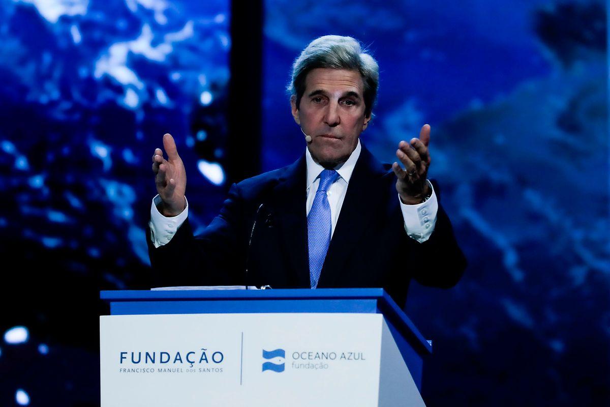"""John Kerry intervém durante a conferência """" O futuro do Planeta"""", em Lisboa"""