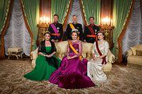 Dîner de galaoffert en l'honneur de LL.MM. le roi et la reine des Belges,en  présence  de  LL.AA.RR.  le  Grand-Duc  et la Grande-Duchesse et du Grand-Duc  héritier et la Grande-Duchesse héritière- Foto: Pierre Matgé/Luxemburger Wort