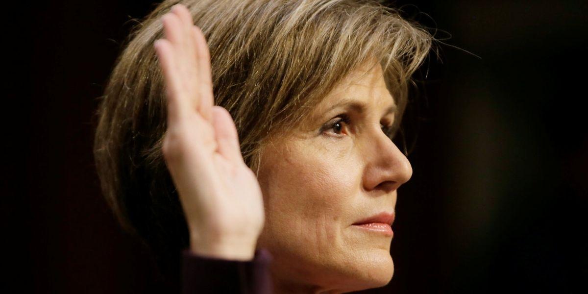Yates wurde am Montag vor einem Ausschuss des US-Senats in Washington vereidigt und gehört.