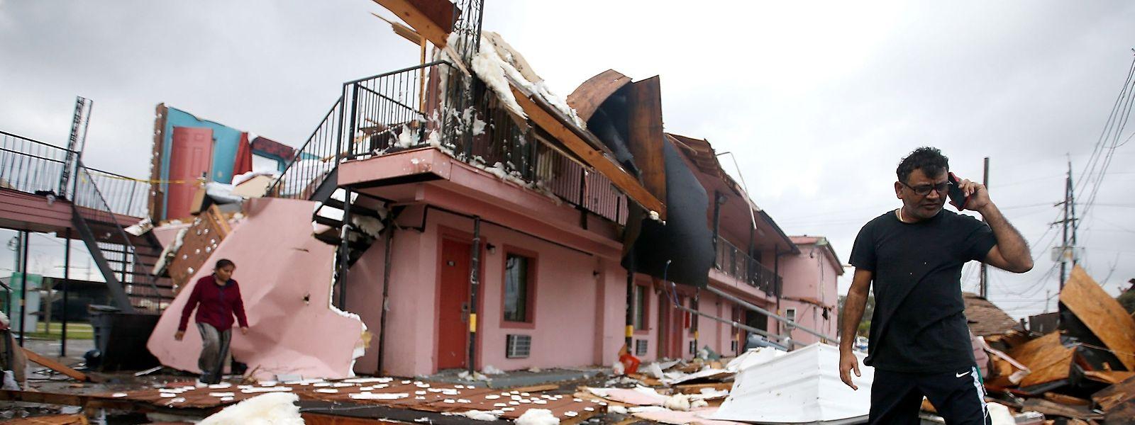 Der Tornado traf ein Stadviertel, das schon 2005 von Hurrikan Katrina schwer beschädigt worden war.