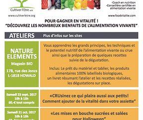 """Atelier: """"Menu gourmand aux saveurs d'automne"""" animé par Nancy GRANDJEAN"""