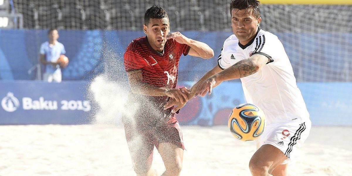 Portugal (vermelho) voltou a derrotar a Suíça na conquista da medalha de bronze