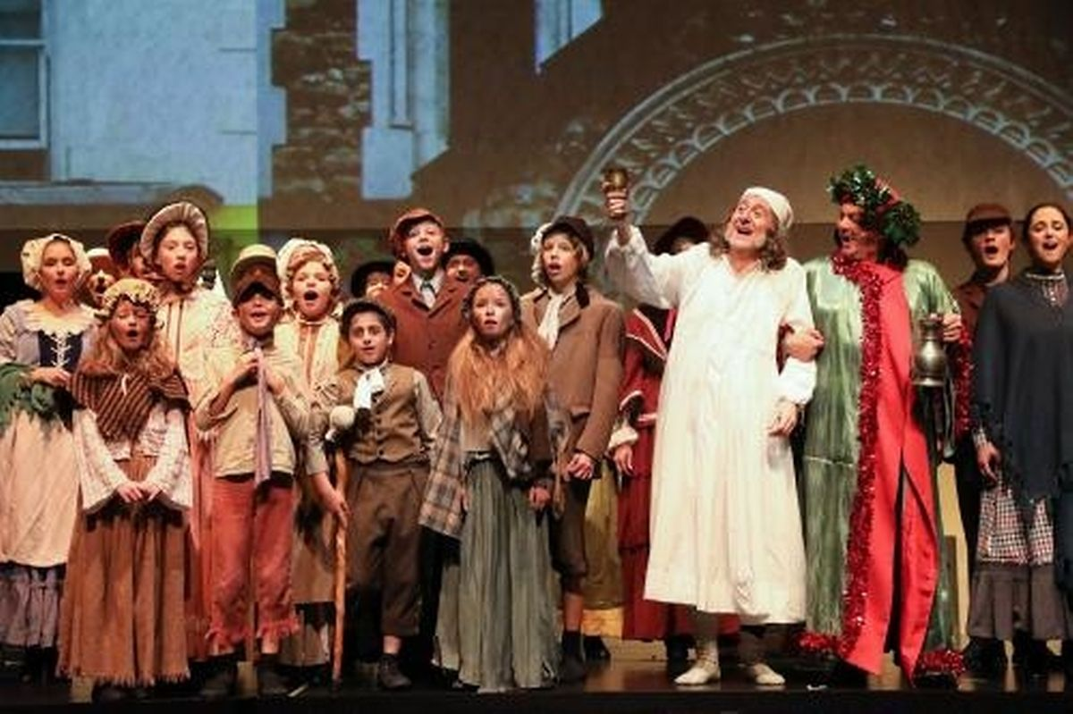 Amateur actors take to the stage in Luxembourg for Scrooge the Musical Photo: Pirate Productions