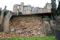 Der Eingangsbereich zur Burg bleibt die gesamte Saison über noch gesperrt.