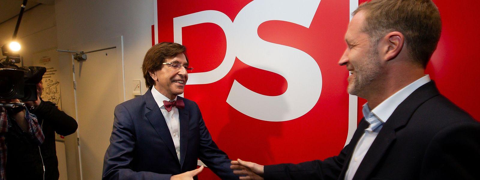 Paul Magnette président du PS et son prédécesseur Elio Di Rupo ont de plus en plus de mal à comprendre le discours de la N-VA.