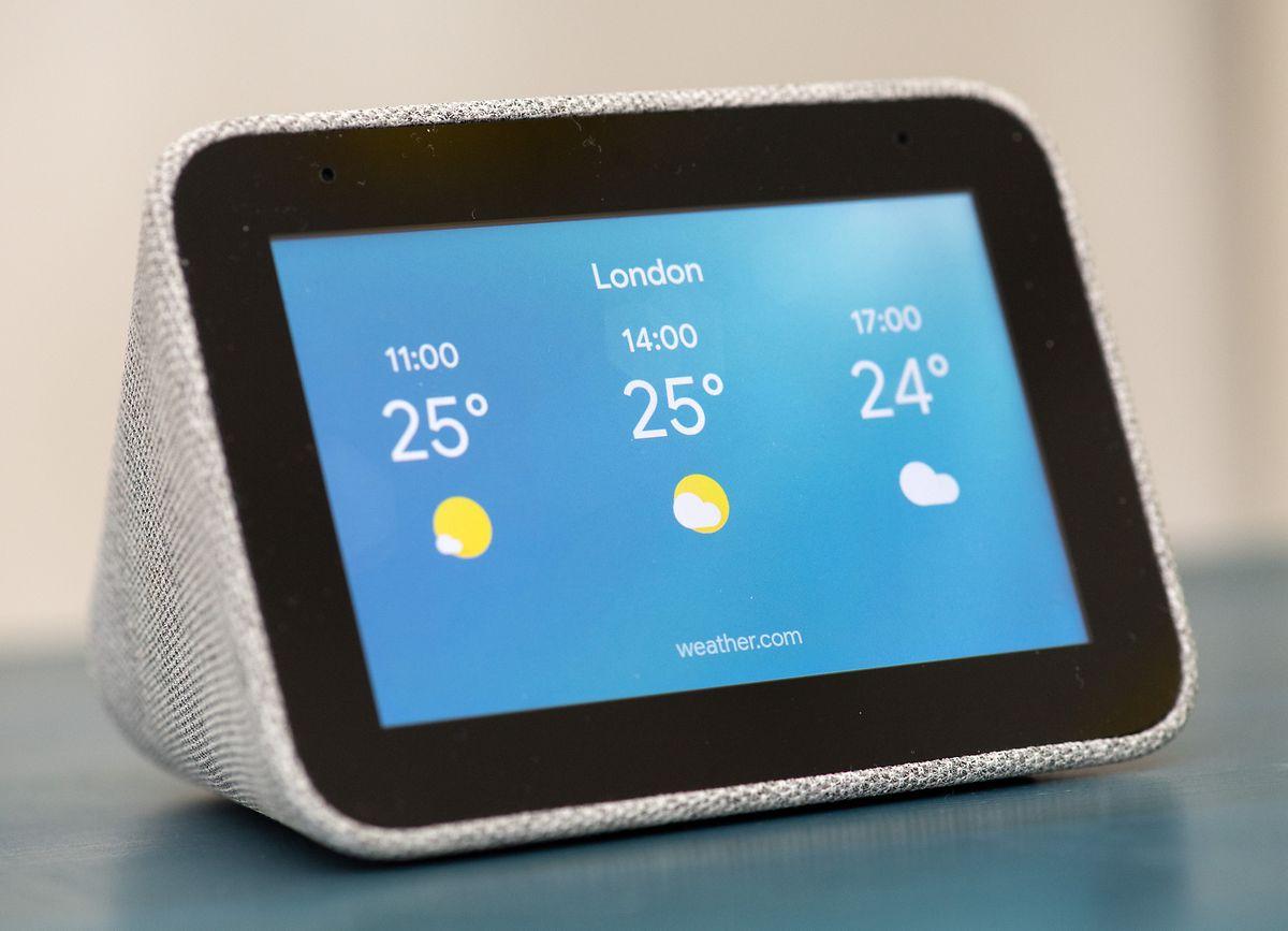 Standortbezogene Wetterberichte gehören zu den weiteren Fähigkeiten der Smart Clock.