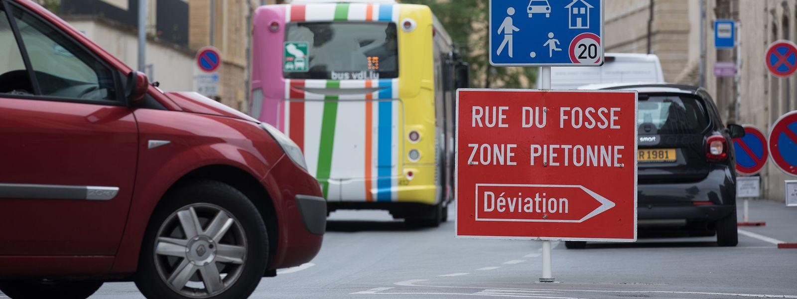 Die Rue du Fossé ist gesperrt - vorerst bis zum 30. September.