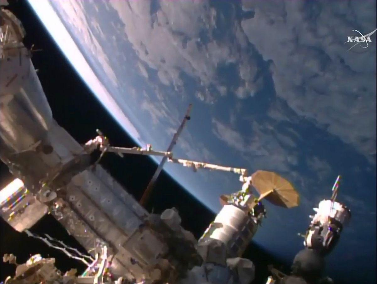 """Der private Raumfrachter """"Cygnus"""" brachte vor wenigen Tagen mehr als 3000 Kilogramm Lebensmittel, wissenschaftliche Experimente und Ersatzteile zur ISS."""